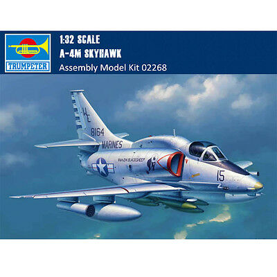 Trumpeter 02268 1/32 Scale A-4M Skyhawk Fighter Assembly Aircraft Model Kits