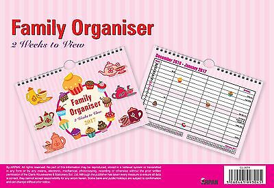 Family Planner Quality Calendar Wall Hanging Planner 2017