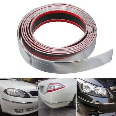 Self Adhesive Chrome Strip Car Detail Edging Styling Moulding Trim 30MM X 2.5M