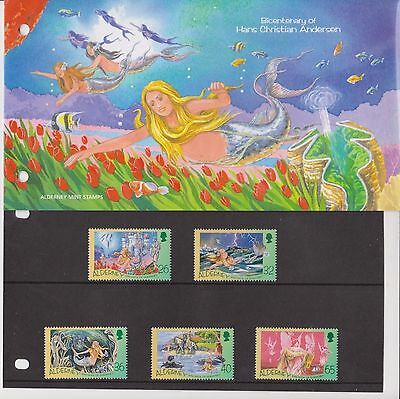Alderney Presentation Pack 2005 Hans Christian Anderson Stamp Set Mnh