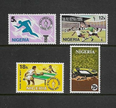 NIGERIA - mint 1973 2nd All-African Games Lagos, set of 4, MNH MUH