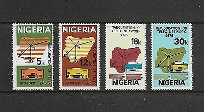 NIGERIA - mint 1975 Inauguration of Telex Network, set of 4, MNH MUH