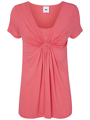 Summer Mamalicious Maternity Nursing Top Breastfeeding Pink Jersey SS
