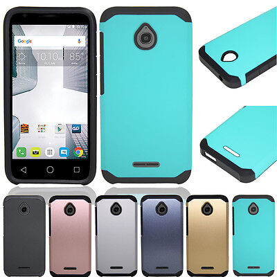 Armor Rubber Hybrid Hard Phone Case Cover For Alcatel One Touch PIXI Avion LTE