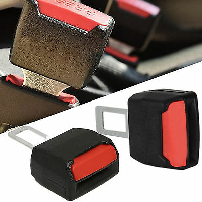 2x Universal Car Seat Belt Plug Buckle Extension Clip Alarm Stopper Canceller