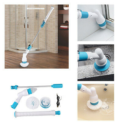 Rechargeable Turbo Scrub Cleaning Brush Cordless Handled Hurricane Spin Scrubber