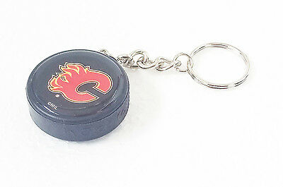 Official CALGARY FLAMES Hockey Puck Keyring NHL Gift Ice Keychain Jersey Shirt