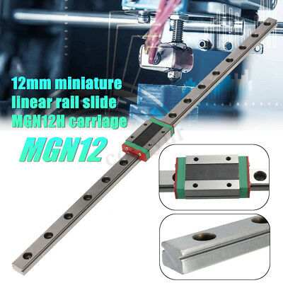 MGN12 12mm Miniature Linear Rail Slide +Mini MGN12H Block for Kossel 3D Printer