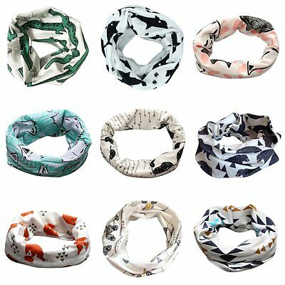 Toddlers Baby Unisex Scarf Winter Warmer Neck Multi-Color Scarves Round Wraps