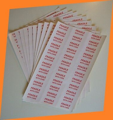 2880 to 144 Fragile With Care Labels Stickers Industry standard Choose UK Seller