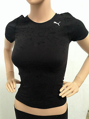 Women's Puma Active Short Sleeve T-shirt/Top - White, Gym, Fitness, Yoga