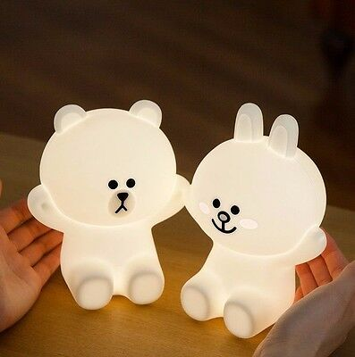 [LINE FRIENDS] HUG ME LED TOUCH LAMP BROWN & CONY SET Free FedEx
