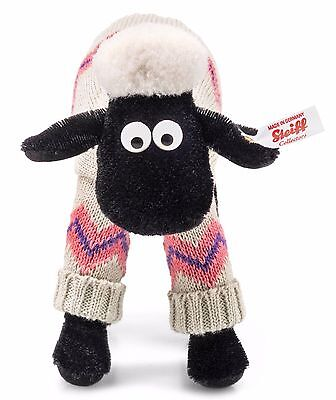 Steiff Shaun The Sheep White Black Wool Plush Wallace Gromit 19cm Limited 690129