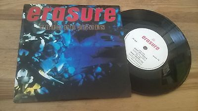"7"" Pop Erasure - Ship Of Fools / When I Needed You (2 Song) MUTE UK walking man"