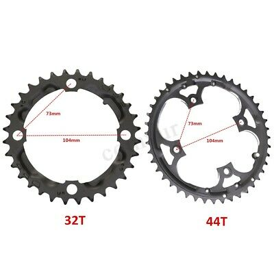 For SHIMANO & 9-speed Crankset 32T/44T Bike MTB Bicycle Chain Ring Chainring