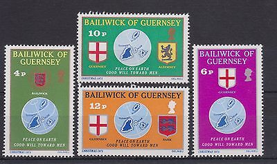 Guernsey Stamp Set Mnh 1975 Christmas 10% Off 5+