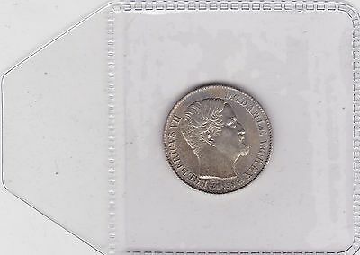 1858 Denmark Silver 16 Skilling In Extremely Fine Condition