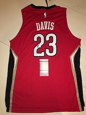 84167beb5e4 Anthony Davis Signed New Orleans Pelicans Jersey  23 JSA COA Kentucky Red  NBA !