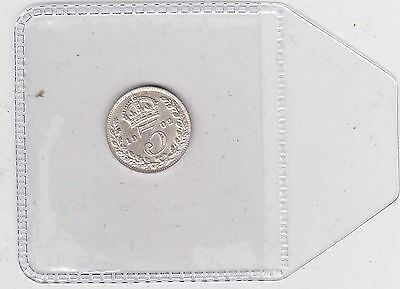 1902 Edward Vii Silver Threepence In Extremely Fine Condition