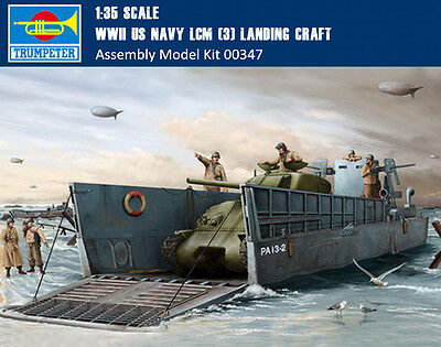 Trumpeter 00347 1/35 Scale WWII US Navy LCM (3) Landing Craft Assembly Model Kit