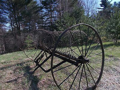 Vintage Antique Cultivator High Metal Wheels Farm Garden