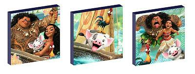 Moana Canvas Art Blocks/ Wall Art Plaques/pictures
