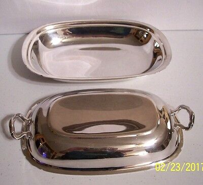 Reed & Barton Silver Plate Silverplate Serving Platter Dish w/ Lid Cover # 5002