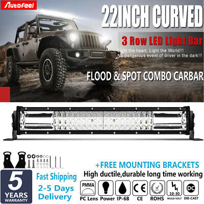 720W 22Inch CREE Curved LED Light Bar Combo Beam Offroad Work Driving Lamp 23 20