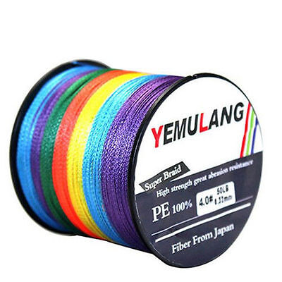 100M 300M 500M 1000M Spectra 100% PE Dyneema Multicolor Braided Fishing Line NEW