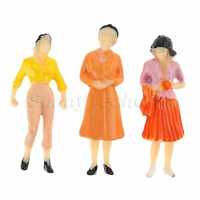 100pcs Multicolor Model PasSeated People Figures Train Scenery Layout 1:75 Scale