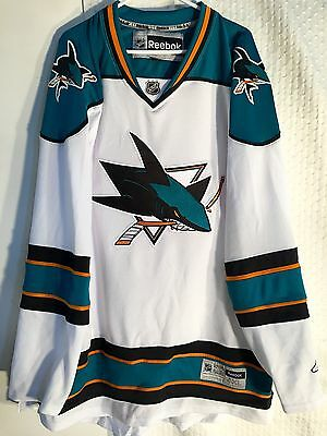 NHL San Jose Sharks Premier White Ice Hockey Shirt Jersey