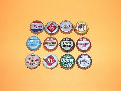 Vintage Vintage Soda Bottle Cap's 12 Different