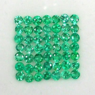 Lot de 49 Emeraudes de Zambie (2,5 mm), taillées à la machine/2,60 carats