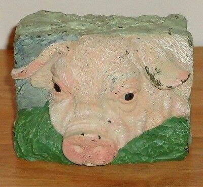 "PIG FACE Figural country Candle 3"" x 4"""