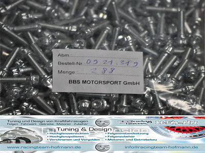 96x Original BBS Motorsport Screws M6x26 E26 E28/88 E30 E50/51 E87/88