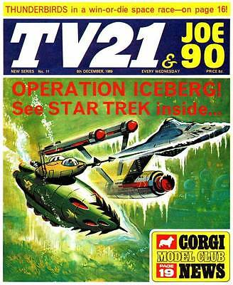 MY COMPLETE 1960/70'S TV21 COMIC COLLECTION ALL105 ISSUES & 5 ANNUALS dvd disc
