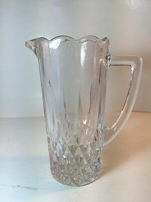 Vintage Pint Pitcher Longchamp Clear Cristal D'Arques-Durand Water Syrup