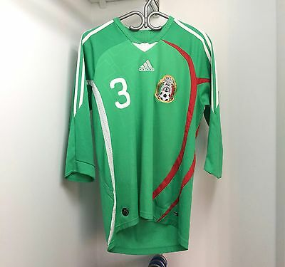 Adidas Mexico 2008/09 Home Jersey Medium 3/4 Sleeve Carlos Salcido
