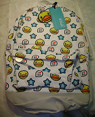 B. Duck Star Pattern Backpack Canvas Nylon & Cotton NEW with TAG