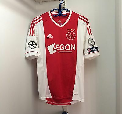 Adidas Ajax Amsterdam 2012/13 Home Jersey Small SS UEFA Champions League