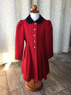 Vintage Young Gallery Girls Wool Peacoat Size 5 Fully Lined