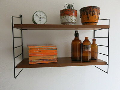 Vintage Mid Century String Shelving 20th Century Shelving Unit