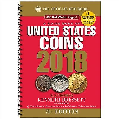 Official Whitman Red Book United States Coin 2018 Price Guide NEW 71st Ed Spiral