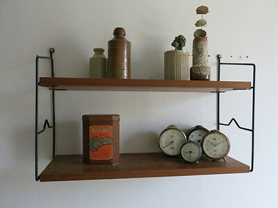 Vintage Mid Century Danish String Shelving 20th Century String Shelving Unit