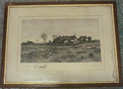 Beautiful Original Framed Print by Will Anderson. Printer Walter A. Cox Country