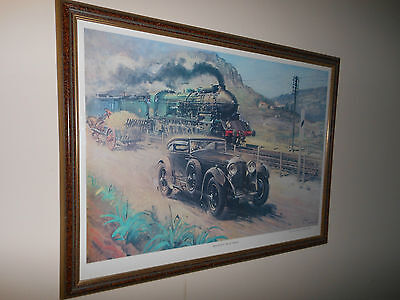 Bentley V Blue Train Framed Print