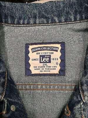Lee Jean Jacket 2XL Stonewashed Blue Jean Luckenbach, Texas Red Star
