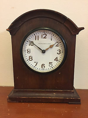 "Vintage Ww I Je Caldwell Shelf Clock ""usnrf"" Dedicated To Liet.-Waltham Movement"