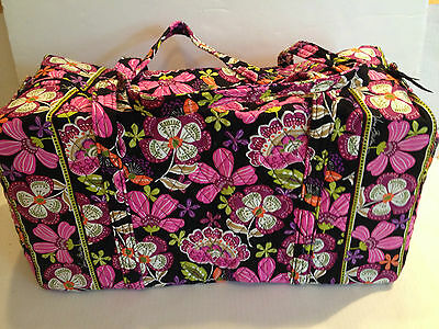 Vera Bradley Large Duffel Travel Bag in Pirouette Pink Quilted Large Suitcase