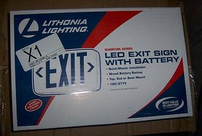 Lithonia Lighting LED EXIT Sign/Emergency BATTERY LQM S 120/277 NEW SEALED BOX